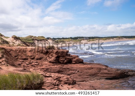 Shoreline view at the Prince Edward Island National Park, Canada