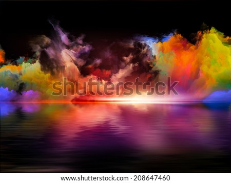 Shores of Dreams series. Abstract design made of colors and gradients on the subject of art, creativity, imagination and design - stock photo