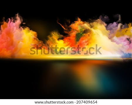 Shores of Dreams series. Composition of colors and gradients on the subject of art, creativity, imagination and design - stock photo