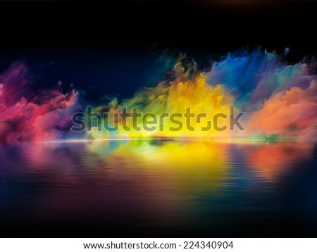 Shores of Dreams series. Composition of colors and gradients suitable as a backdrop for the projects on art, creativity, imagination and design - stock photo