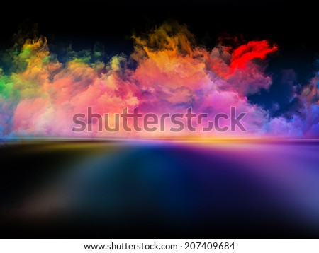 Shores of Dreams series. Interplay of colors and gradients on the subject of art, creativity, imagination and design - stock photo