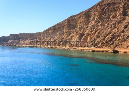 Shores of the Red Sea in Egypt