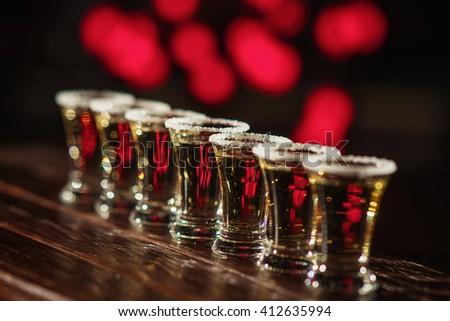 short alcoholic cocktail  - stock photo