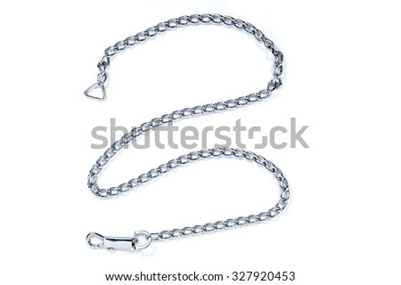 Short chain or dog chain on white background