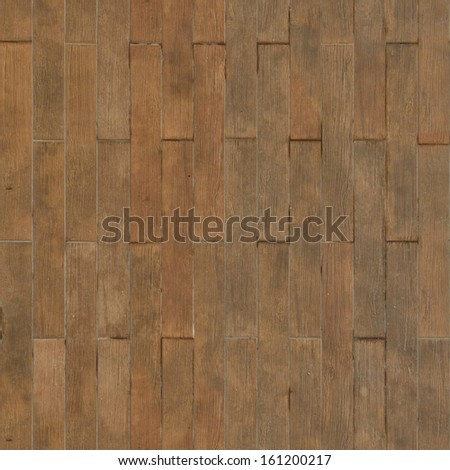Short red planks set in repeating vertical pattern.