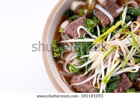 short rib beef pho, a delicous vietnamese dish