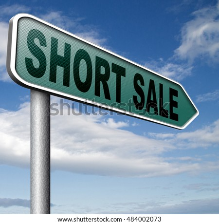 short sale reduced prices sales banner mortgage foreclosure and house reposession 3D illustration