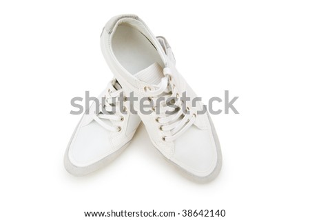 Short shoes isolated on the white background
