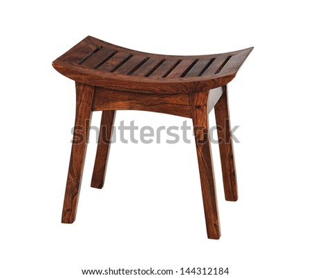 short stool isolated on white background - stock photo