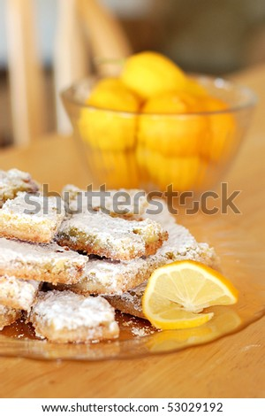 Shortbread Lemon Bars - stock photo