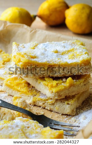 Shortcrust lemon bars pastry