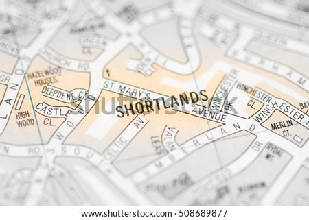Shortlands. London, UK map.