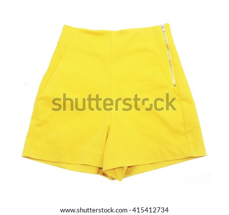 shorts isolated on white background - stock photo