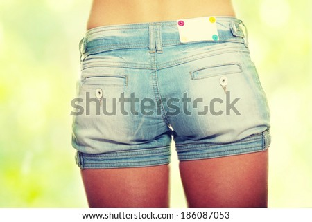 Shorts on woman