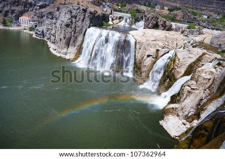 shoshone falls idaho - stock photo