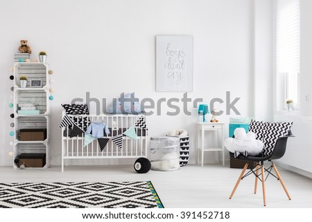 Shot of a baby room full of light - stock photo