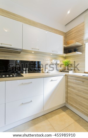Shot of a beautiful and full of light kitchen interior