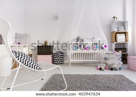 Shot of a cosy spacious baby room