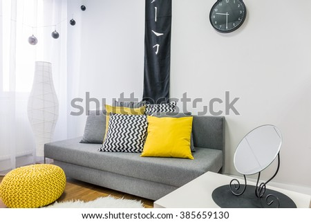 Shot of a decorated living room - stock photo