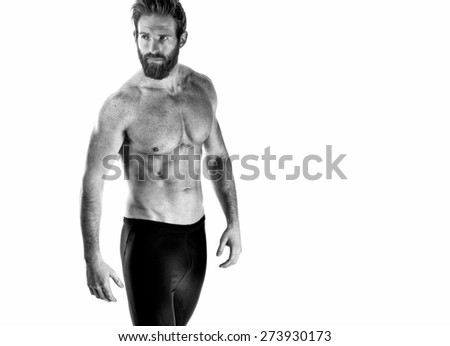 Shot of a Fitness model on white
