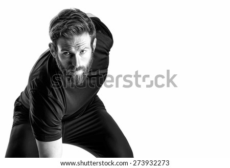 Shot of a fitness model on white background