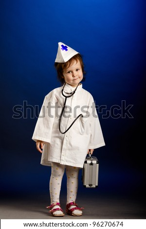 Shot of a little girl with doctors uniform