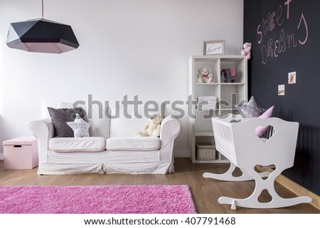 Shot of a modern spacious baby room - stock photo