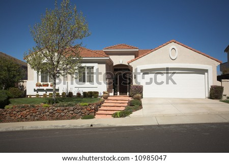 Shot of a Northern California Suburban Home