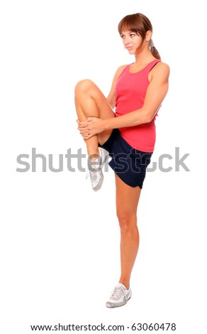 Shot of a sporty young woman. Active lifestyle. - stock photo