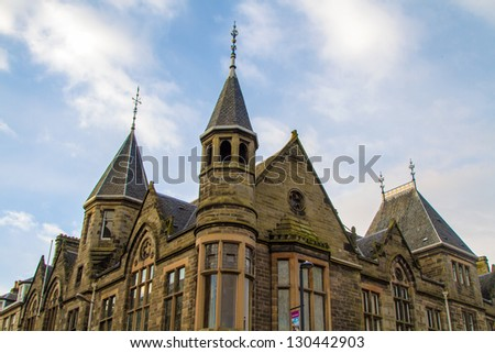 Shot of a Victorian building in Scotland