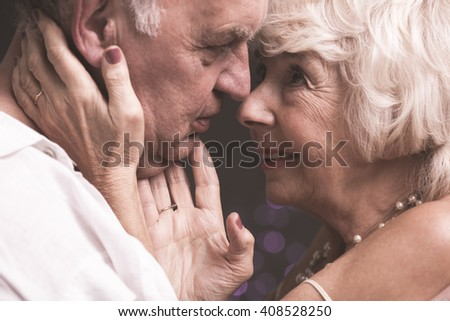 Shot of an elderly husband and wife looking each other deep in the eyes