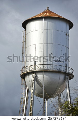 Shot of an old rusty water tank   - stock photo