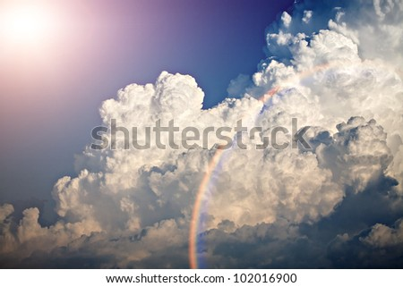 Shot of clouds and blue sky at summer time