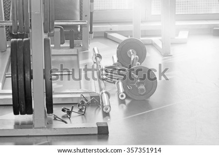 Shot of the interior of a health club - stock photo