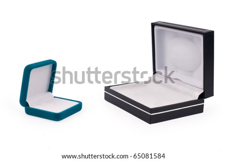 Shot of two gift boxes  isolated on white background - stock photo