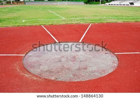 Shot put field