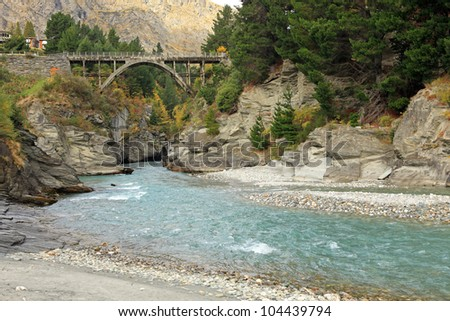 Shotover River in Queenstown South Island, New Zealand