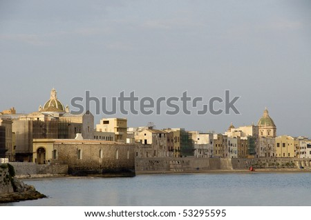 shots from Trapani, city in Sicily - stock photo