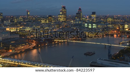 Shots of the London Skyline