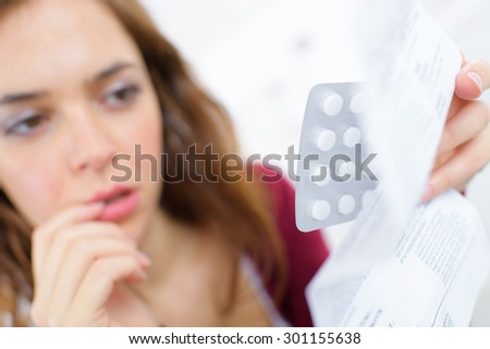 Should I take the contraceptive pill - stock photo