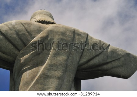 Shoulder of Cristo Redentor - stock photo