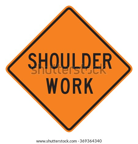 Shoulder work sign isolated on a white background - stock photo