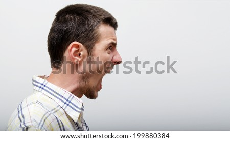 Shouting man - stock photo