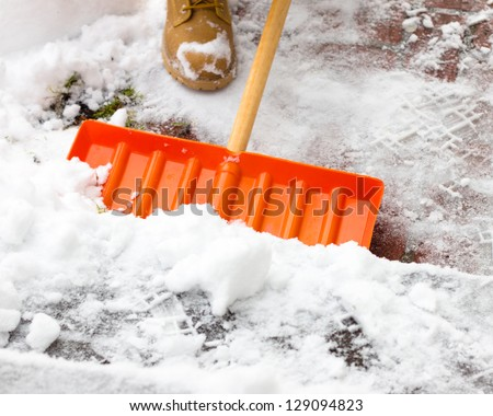 Shoveling Snow Stock Images Royalty Free Images Amp Vectors