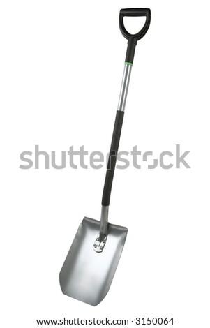 Shovel isolated on a white background - stock photo