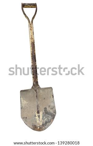 Shovel isolated on white background - stock photo