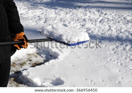shovel the snow - stock photo