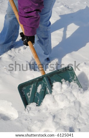 Shoveling Snow - stock photo