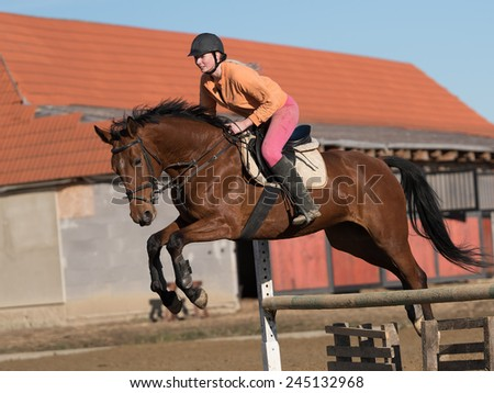 show jumping  - stock photo