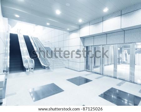 Showcase in underground - stock photo